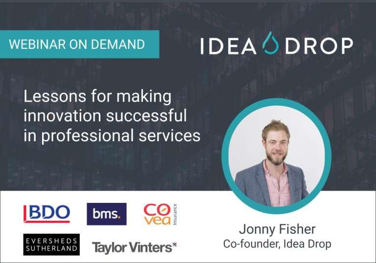 Professional Services innovation webinar